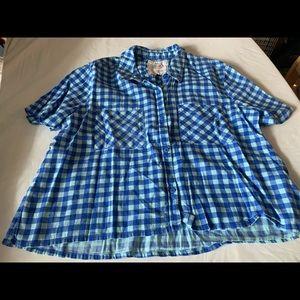 Girls blue So blouse size large